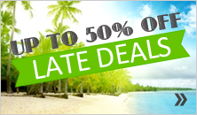 Late Deals, up to 50% off